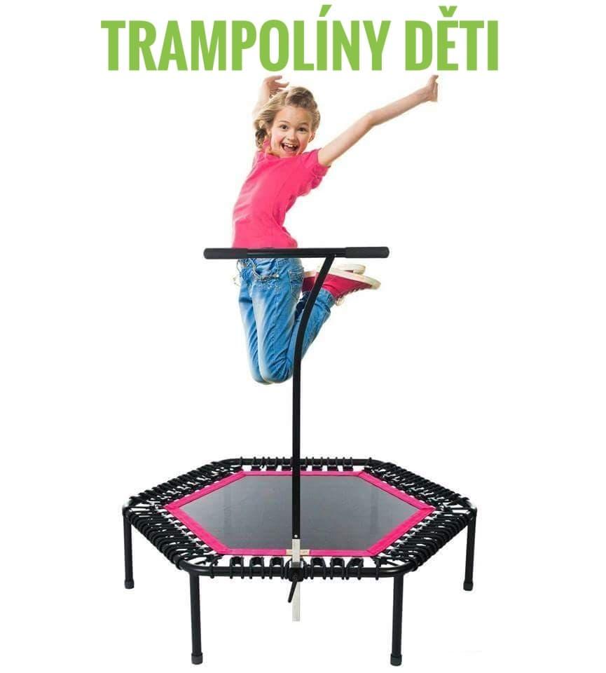 Ukázka z cvičení na trampolínách pro děti